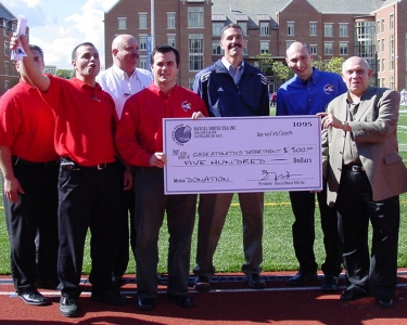 Rascal House donating money to Case Athletics